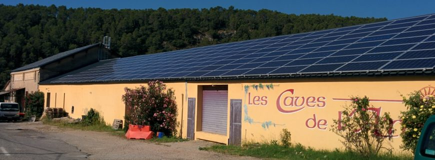 Installation photovoltaïque Cave coopérative à Entrecasteaux (83)