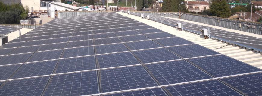 Installation photovoltaïque La Plaine à Mougins (06)