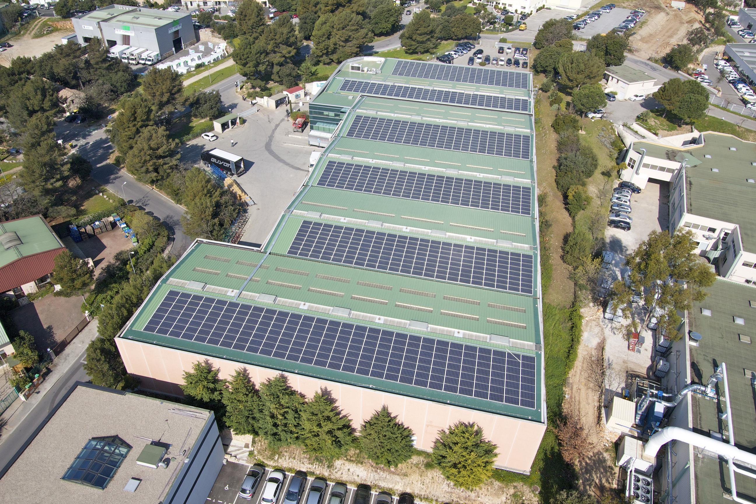Installation photovolta que du parc d activit s de l for Garage du park mouans sartoux