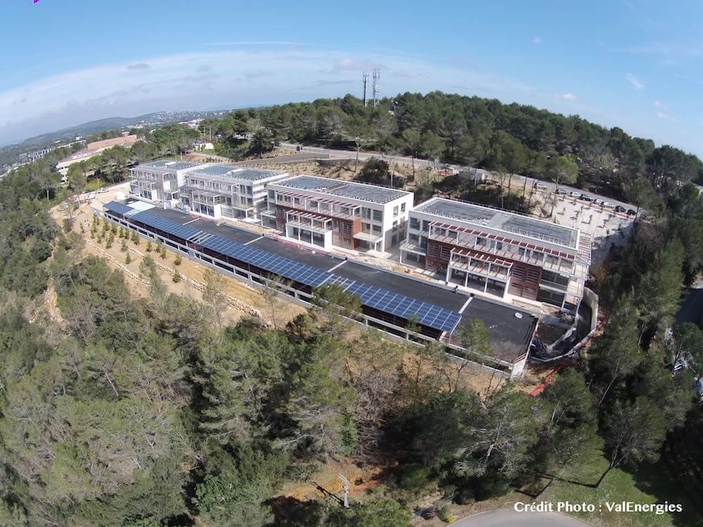 Les Aqueducs, bureaux à Energie Positive à Sophia Antipolis