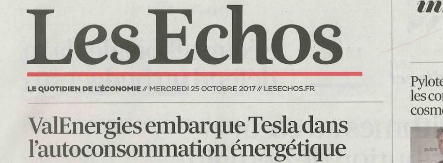 Les Echos : ValEnergies embarque Tesla