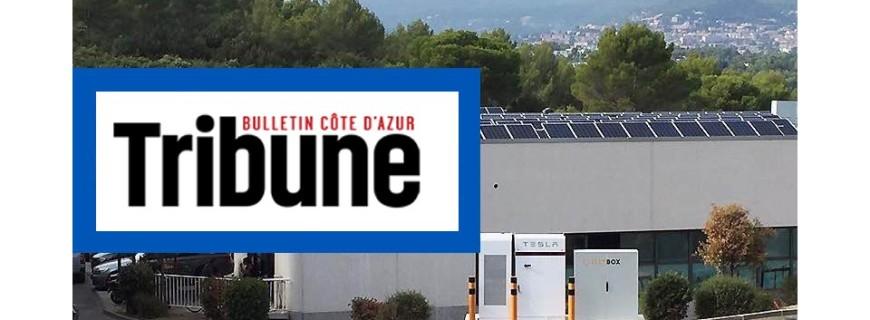Article Tribune Côte d'Azur : EllyBox partenaire de Tesla