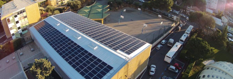 Installation photovoltaïque Gymnase des Campelières à Mougins (06)