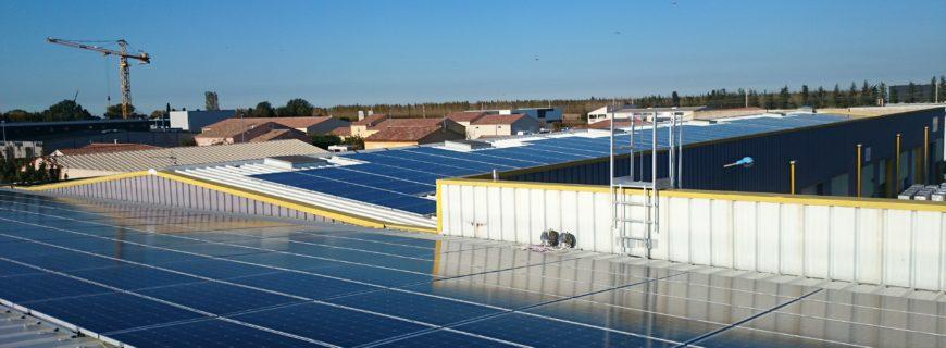 Installation photovoltaïque à Miramas (Bouches-du-Rhône)
