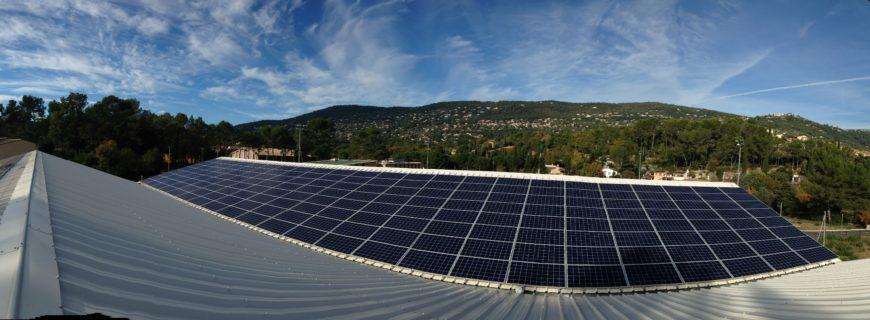Installation photovoltaïque Tennis Club de Peymeinade (06)